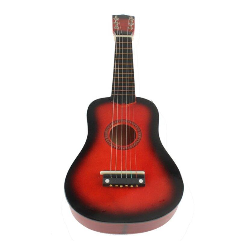 FSH 21 Inch 6 String Acoustic Guitar Red Beginners Practice Musical Instrument (Red) Malaysia