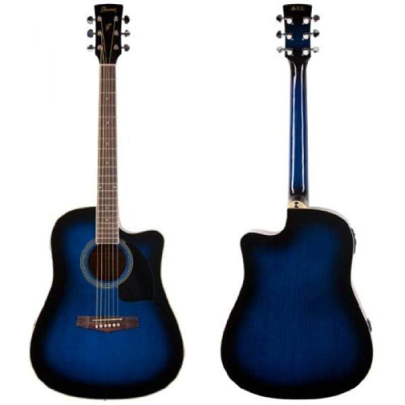 Ibanez Performance Series PF15 Cutaway Dreadnought Acoustic-Electric Guitar Transparent Blue Burst Malaysia