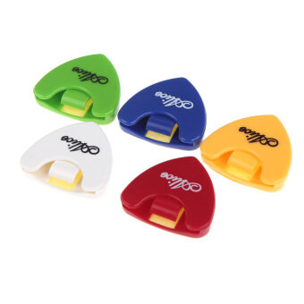 Harga Alice 5pcs Plactic Triangle Shape Guitar Pick Plectrum Holder Cases Sticky Portable (pick not included)