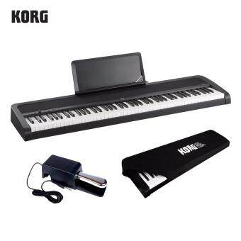 Harga Korg B1 88-Keys Digital Piano (Black) + Damper Pedal + Dust Cover