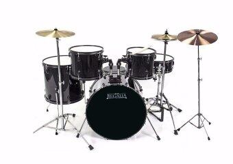 Harga Budget Beginner Drum Set (Cymbal Included)-Black