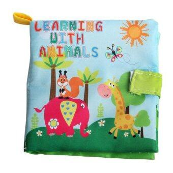 Harga Newborn Baby Cloth Learning Book (animal)