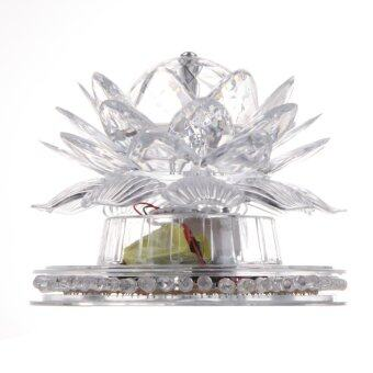 Harga Blooming lotus Auto Rotating Crystal stage light