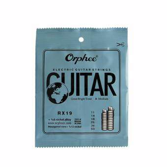 Harga Orphee RX19 6pcs/set Electric Guitar String Set (011-050) Nickel Alloy Strings Great Bright Tone&Medium