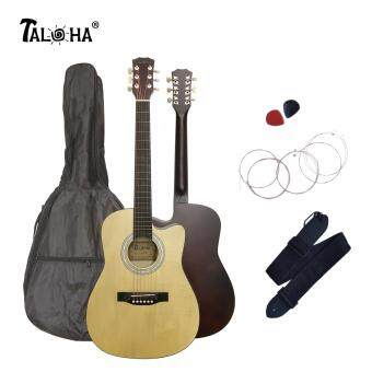 Harga Taloha Acoustic Cutaway Matte Guitar 38 inch SuperValue Package with Bag, Strings, Strap and 2 Picks (Natural)