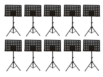 Harga [10 in 1 value pack] Heavy Duty Music Stand for Orchestra, Conductor, Violin, Keyboard, Guitar, Ukulele & Food Menu(High Quality)