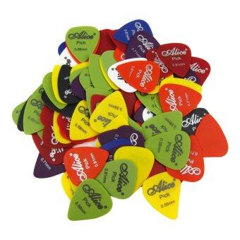 Harga Alice 100pcs Matte ABS Guitar Bass Pick 0.58-0.81mm Guitar Picks with High Quality