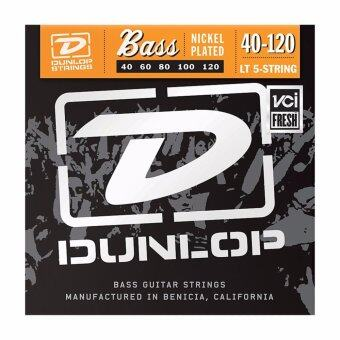 Harga Dunlop DBN40120 Nickel Plated Steel Light 5-String Bass Strings (040-120)