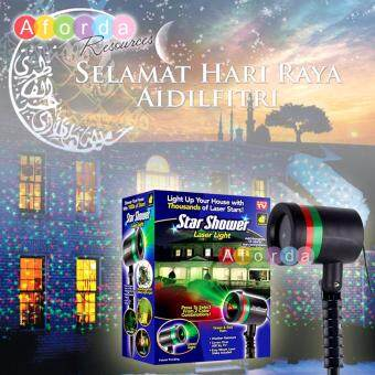 Harga Aforda Resources Hari Raya Laser Light Projector, Red Green Starry Star Full of Sky Landscape Garden Party Holiday Lights