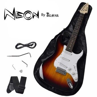 Harga Taloha NEON Electric Guitar (Sunburst) with full set accessories