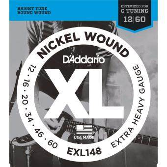 Harga D'Addario EXL148 Extra Heavy XL Nickel Wound Electric Guitar Strings Package (6-String Set, 12 - 60)