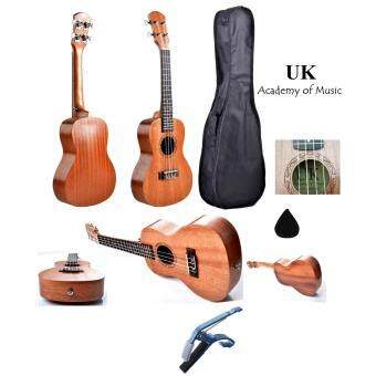 "Harga UK Concert Ukulele 24"" Inch Professional Sapelle Wood With Free Bag, Ukulele Capo and Ukulele Pick"
