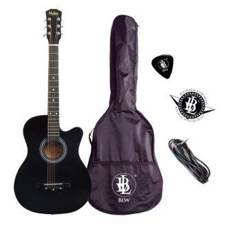 Harga Mukita by BLW 38 Inch 6 strings 2 Equalizer Acoustic Electric Pre amp Guitar with Bag, Pick & Cable (Black)