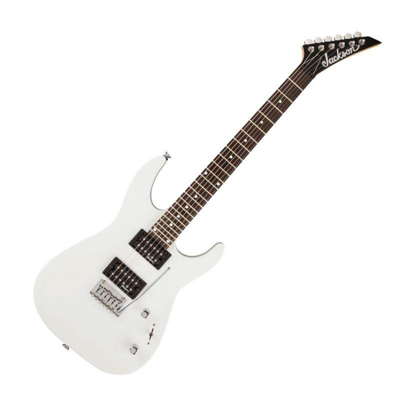 Jackson JS12 Dinky JS Series Electric Guitar, 24 Fret Rosewood FB with 2-Point Fulcrum Tremolo (Gloss White) Malaysia