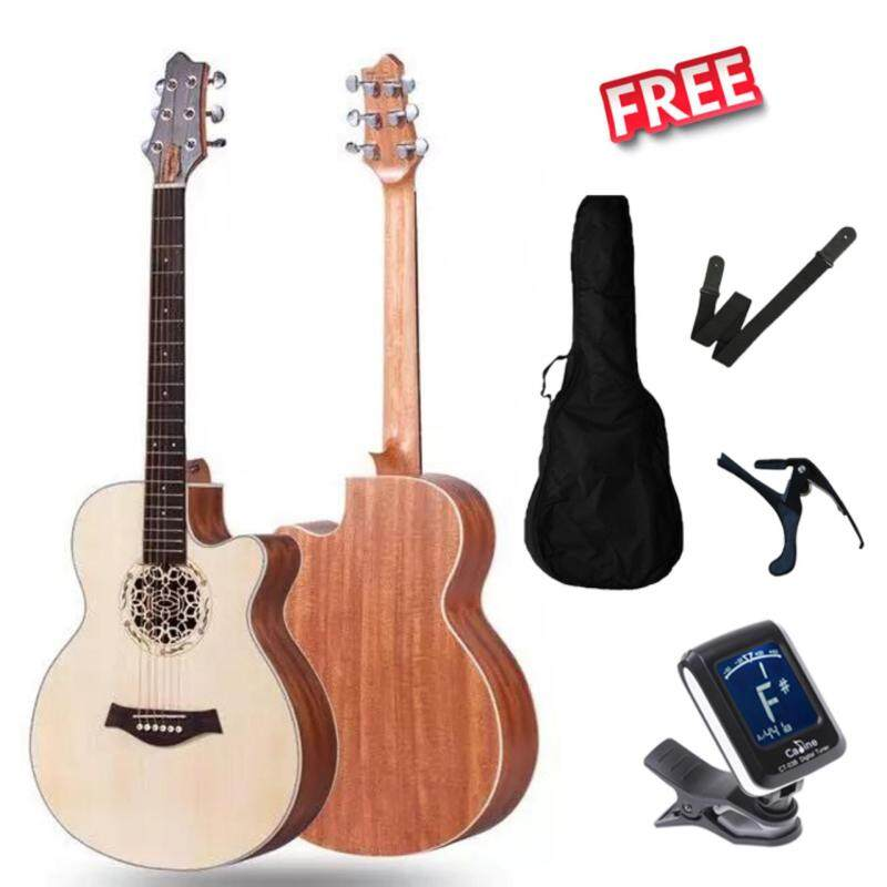 Kriens 40 Cut-Away Acoustic Guitar With Guitar Bag. Tuner. Capo. Strap Malaysia