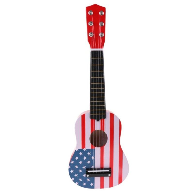 MagiDeal 21inch Wooden Guitar 6 Strings Ukulele Musical Instrument Toy -Star & Strip Malaysia