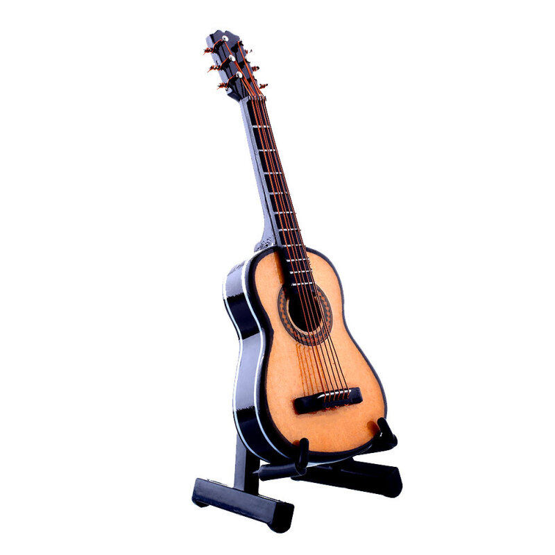 Media, Music Books Acoustic Guitars 1:12 Mini Acoustic Guitar Wooden Miniature Musical Dollhouse With Case New Malaysia