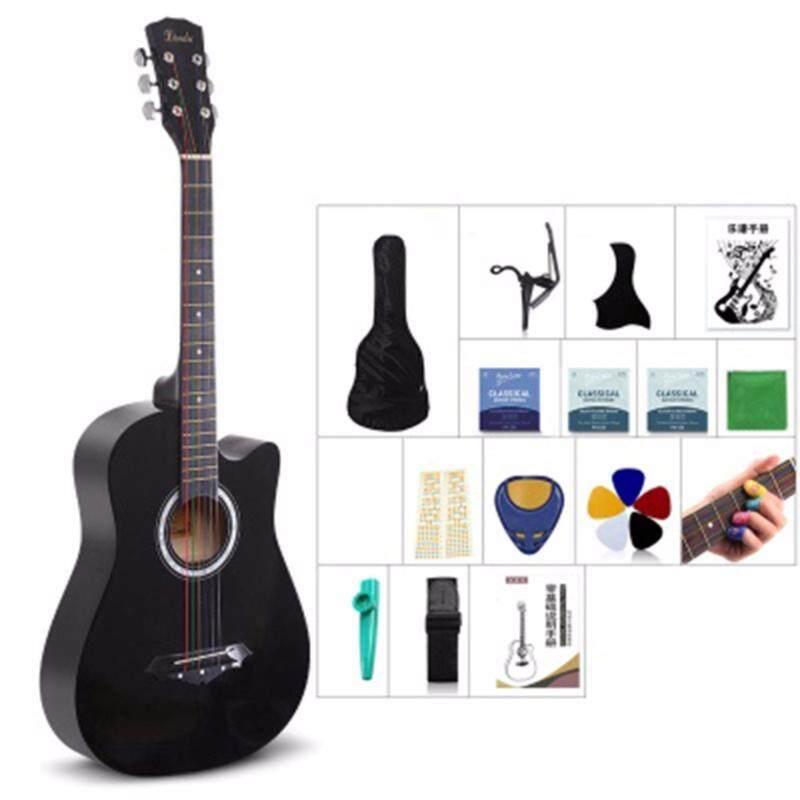 Mimosifolia 38 Inch Beginner Folk Guitar(Burlywood, 96CM, Black) Malaysia