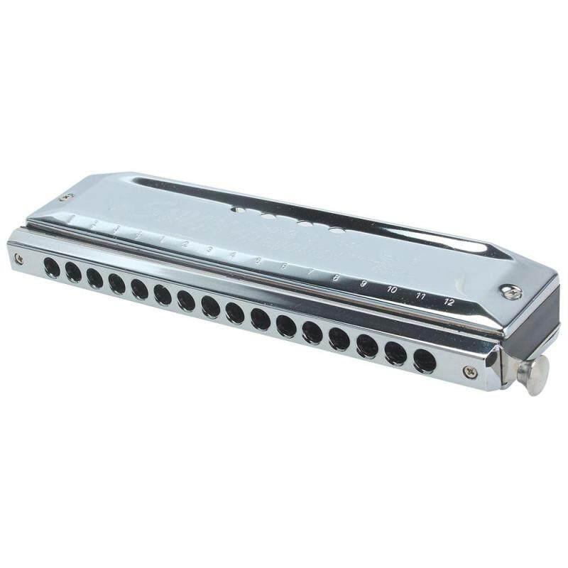 moob C Key 16 Hole 64 Tone Chromatic Harmonica Harp Mouth Organ Instrument (Silver) Malaysia