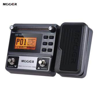 Harga MOOER GE100 Guitar Multi-effects Processor Effect Pedal with LoopRecording(180 Seconds) Tuning Tap Tempo Rhythm Setting Scale &Chord Lesson Functions
