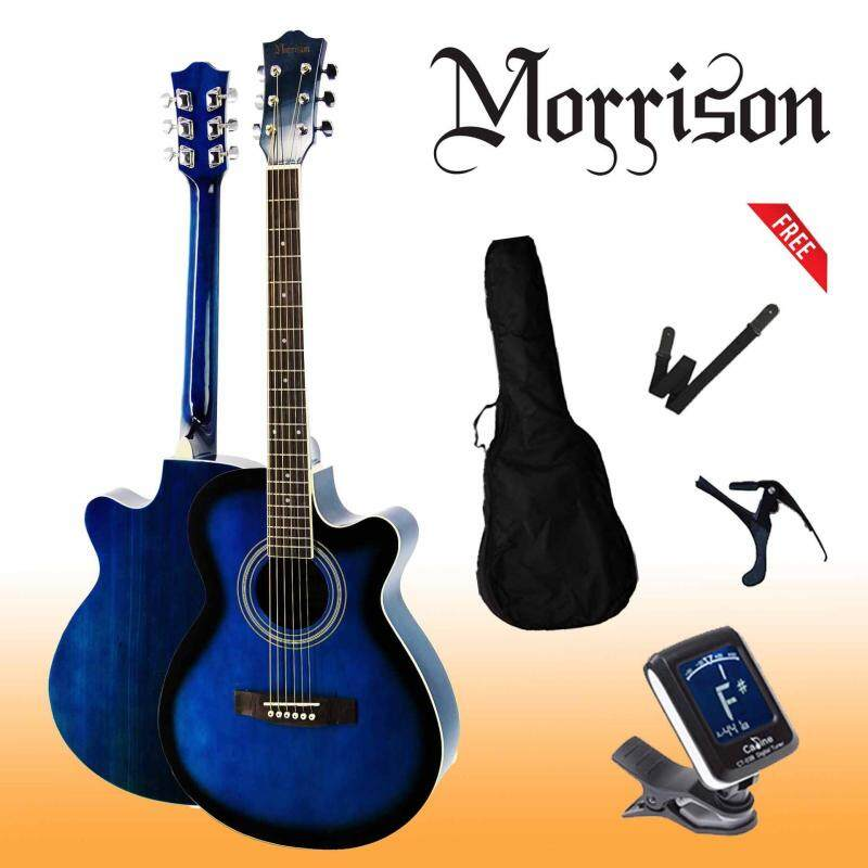 Morrison 40 Cut-Away Acoustic Guitar Free Tuner. Strap. Bag. Capo Malaysia