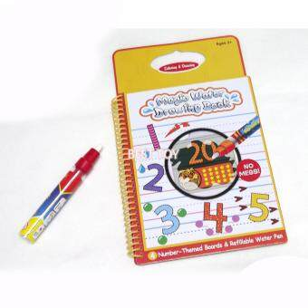 Number Themed Boards Magic Water Drawing Book Coloring WithRefillable Pen