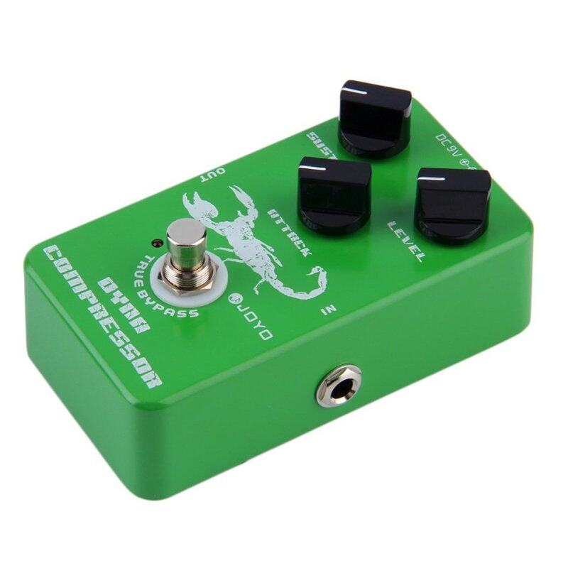 OH JF-10 Dynamic Compressor Guitar AMP Effect Pedal True Bypass Instrument Green Malaysia