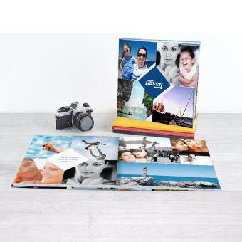 "Photobook Malaysia 8"" x 8\"" Small Square Imagewrap Lay Flat Photo Book, 22+2 Pages"
