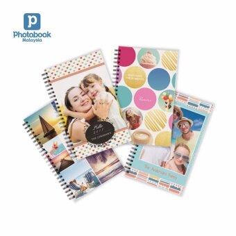 """Photobook Malaysia Personalized Notebook 5\""""x8\"""" - 4 Identical Copies"""