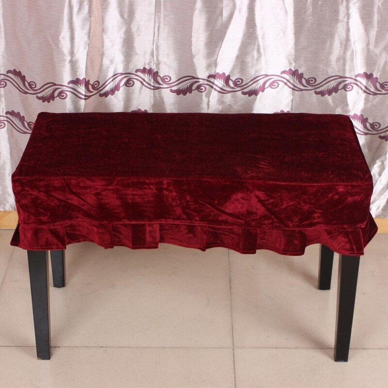 Piano Stool Chair Bench Cover Pleuche Decorated with Macrame 75 * 35cm for Piano Dual Seat Bench Universal Beautiful Malaysia