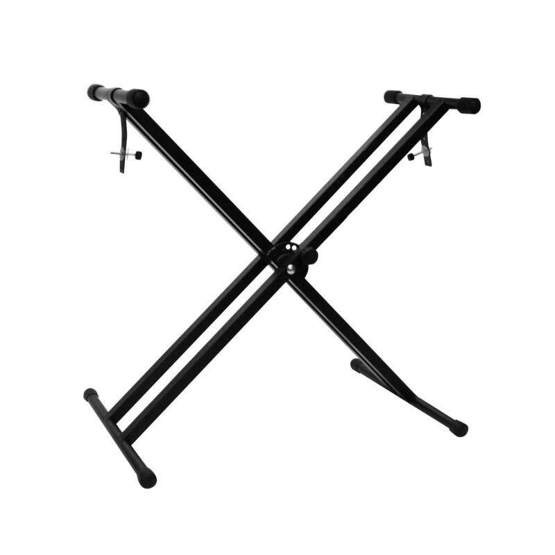 Portable Double X Solid Heavy Duty Music Keyboard Piano Stand Malaysia