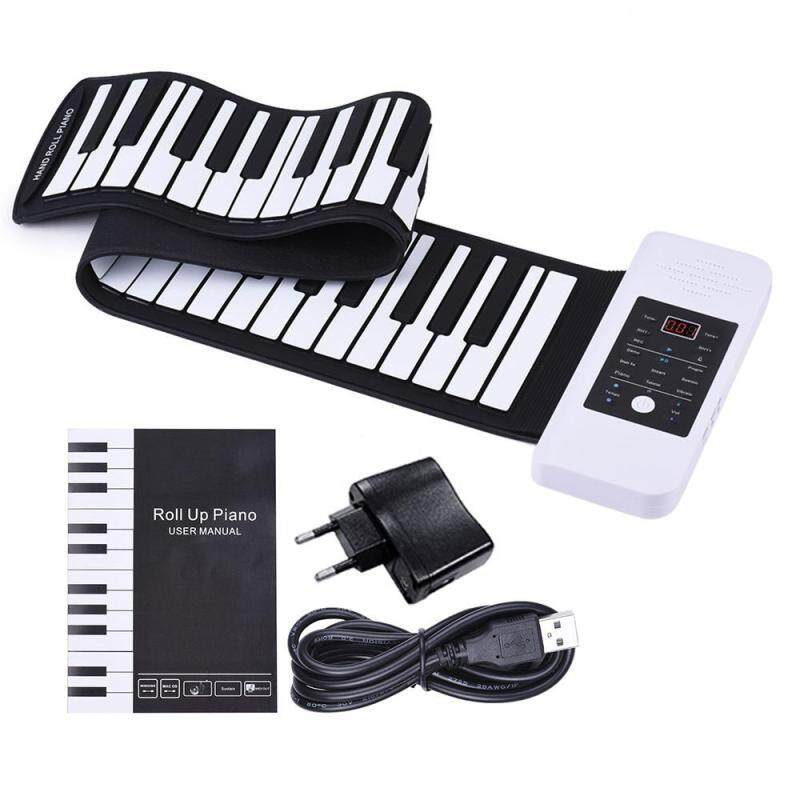 Portable Silicon 61 Keys Hand Roll Up Piano Electronic USB Keyboard with Built-in Li-ion and Loud Speaker Malaysia