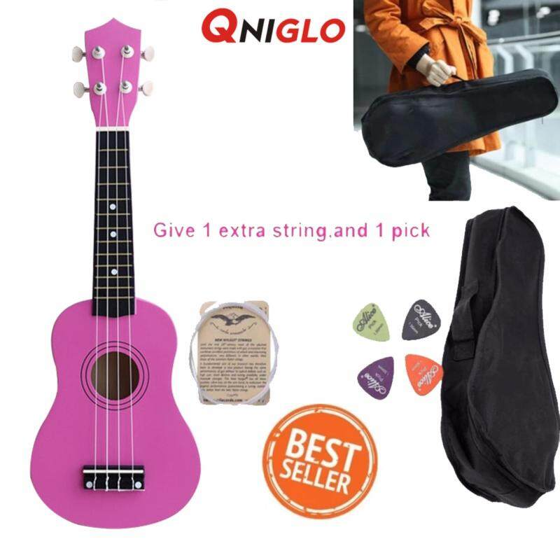 QNIGLO 21 Inch Ukulele Hawaii 4 String Guitar Ukelele Beginner Children Kids Gifts Malaysia