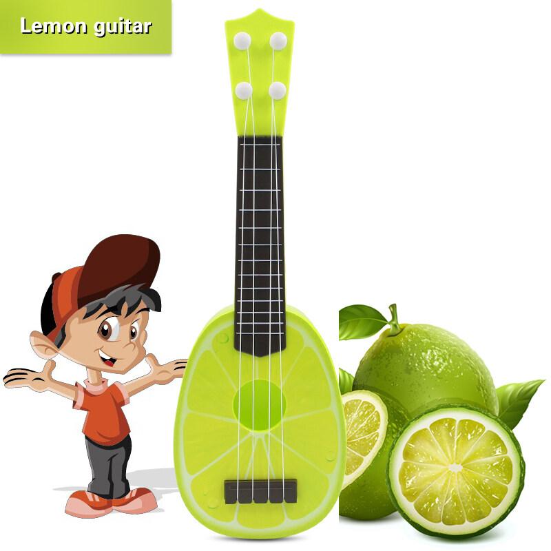 QNIGLO Fruit Mini Guitar Ukulele for Kids - Kids Educational Toy Orange Malaysia