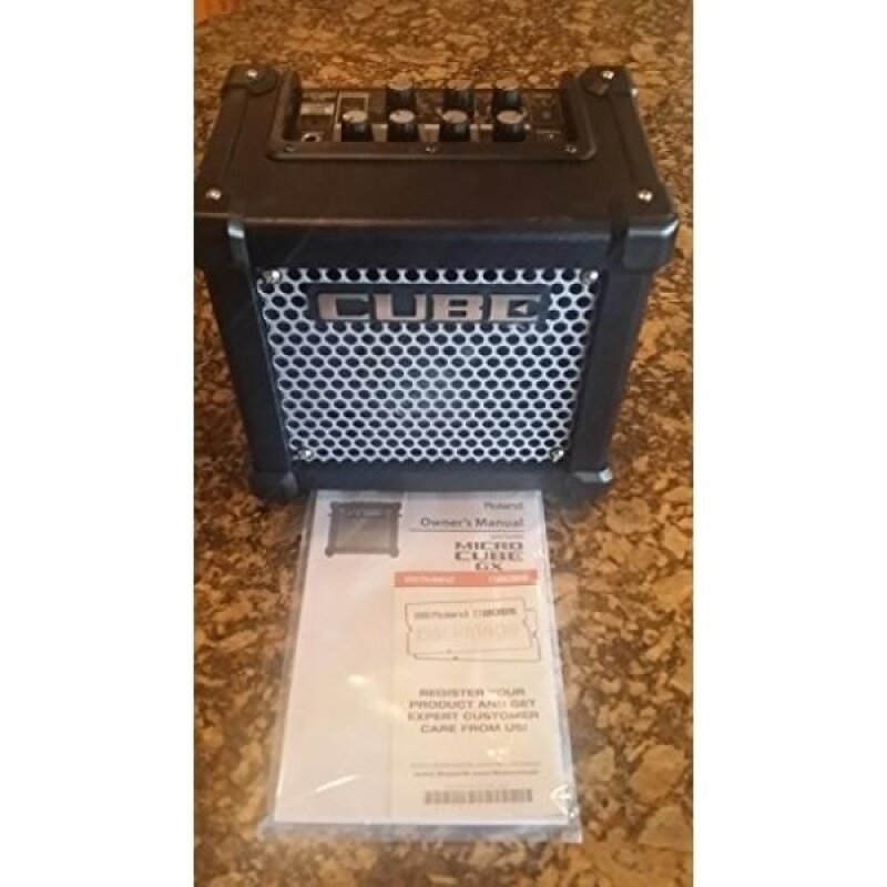 Roland Micro Cube Powered Guitar Amplifier | M-CUBE-GX with 8 DSP Effects, 8 COSM Amplifier Models, Chromatic Tuner, iOS i-Cube Link (Black) Malaysia