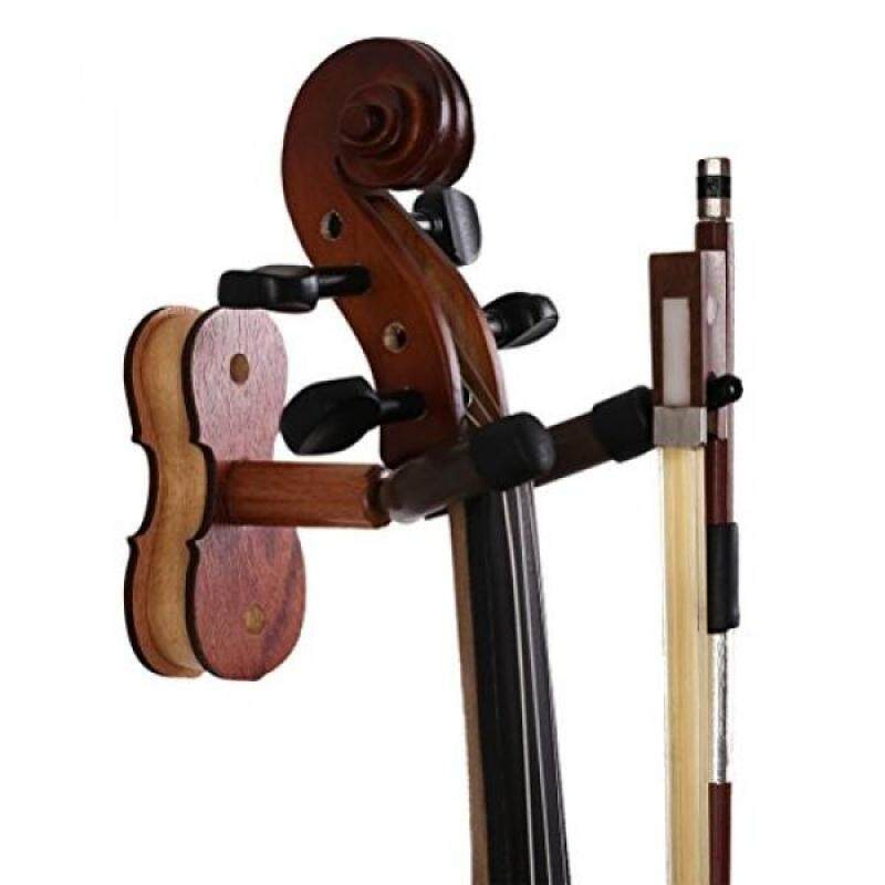 ROSENICE Violin Hanger Home and Studio Wall Mount Hanger(Red Wood Color) Malaysia