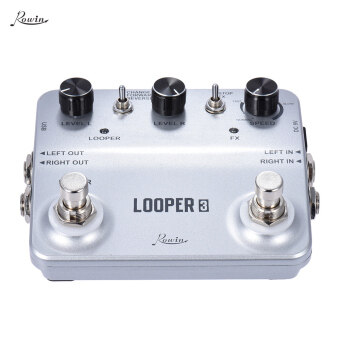 Harga Rowin LOOPER3 Aluminum Alloy Guitar Effects Pedal Mono Stereo Input/ Output Sound Recording Surface Design with USB Cable