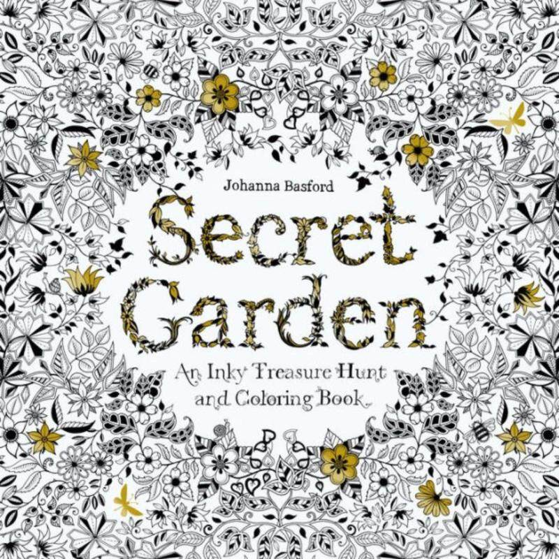 Secret Garden - An Inky Treasure Hunt and Colouring Book Malaysia