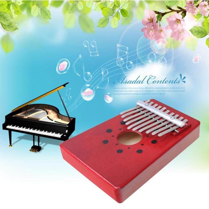 senmei 10 Key Finger Piano Kalimba Mbira Likembe Sanza Thumb Piano (Red) Malaysia