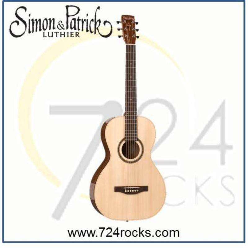 Simon & Patrick Canada Woodland Pro Parlor Spruce Full Solid Acoustic Guitar Malaysia