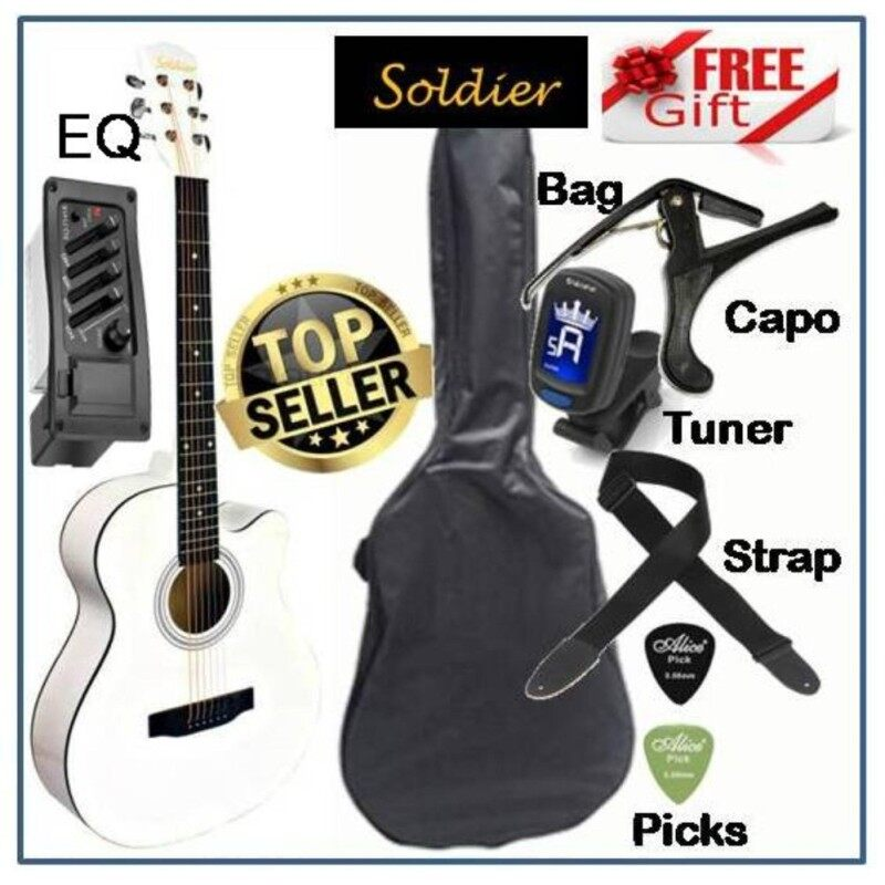 Soldier Standard Size 40 Inch Orchestra Cut-Away Acoustic Electric Guitar S4010EQ FREE Bag, Tuner, Capo, Strap & Picks Malaysia