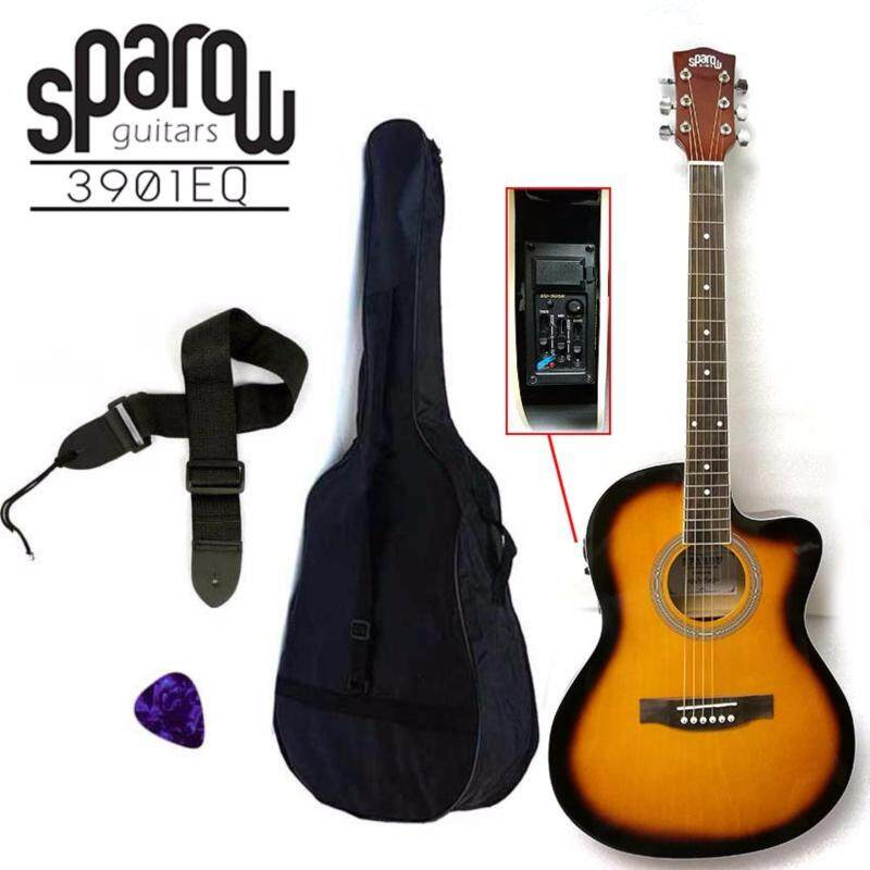 Sparow 39 inch Electro Acoustic Guitar with 3 band EQ colour SunBurst (FOC Non Padded Bag, Pick & Strap) Malaysia