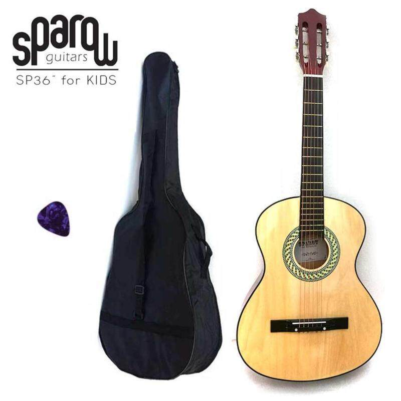 Sparow Acoustic Guitar Kapok Style Natural for Kids 36 free bag strap and pick Malaysia