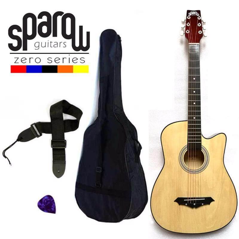 Sparow SPZero Beginners Acoustic Folk Cutaway Guitar 38 Inch (Natural) Free Bag/Strap/Pick Malaysia