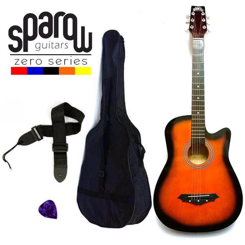 Sparow SPZero Beginners Acoustic Folk Cutaway Guitar 38 Inch (Sunburst) Free Bag/Strap/Pick Malaysia