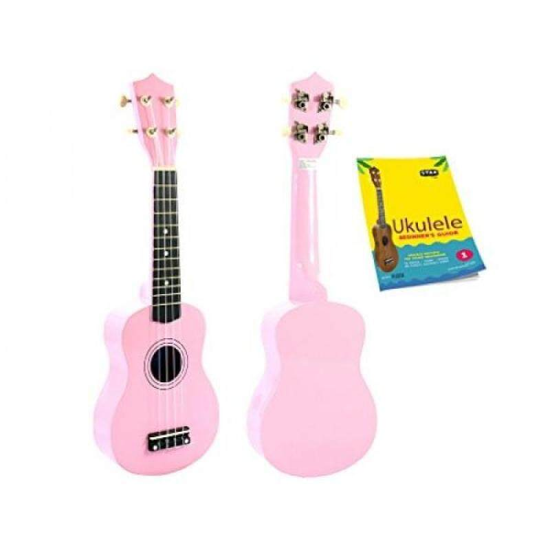 Star Soprano Ukulele 21 Inch with Beginners Guide, Pink Malaysia