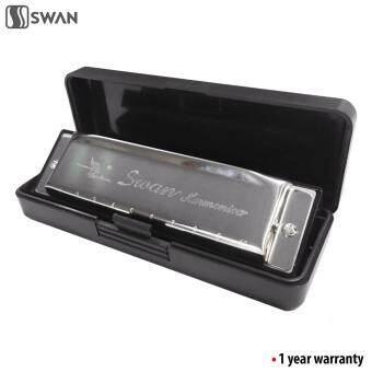Harga Swan SW1020-7 10 Holes 20 Tones Diatonic Blues Harmonica MouthOrgan (Beginner)