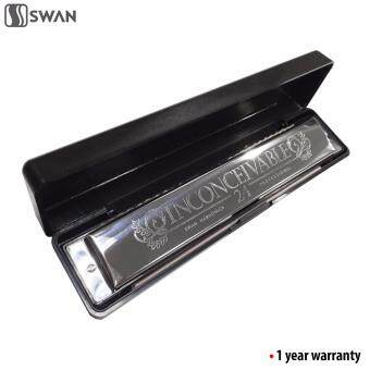 Harga Swan Techno Geek Sw24-4 Inconceivable Tremolo Harmonica Mouth Organ24 Holes 48 Tones C Key With Black Box (Beginner)