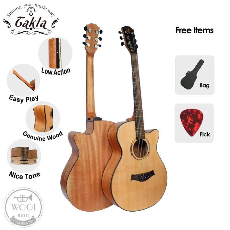 Takla M120 Acoustic Guitar 40 Package A ( FREE Bag & Picks) (Grand Concert) Malaysia