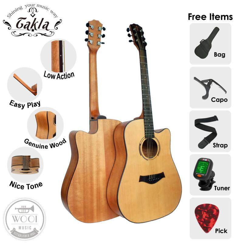 Takla M320C Acoustic Guitar 41 Package B (FREE Bag, Picks, Strap, Tuner & Capo) (Dreadnought) Malaysia